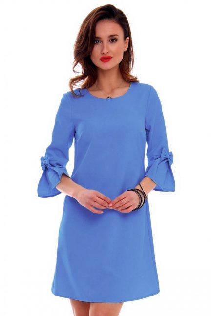 Sukienka niebieska z kokardkami