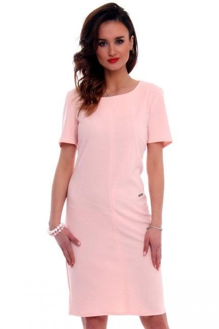 Sukienka ołowkowa CMK559 różowa