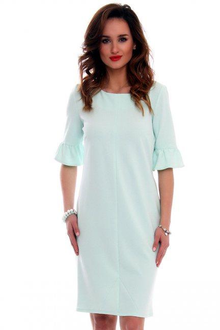 Sukienka ołówkowa damska CMK561 miętowa