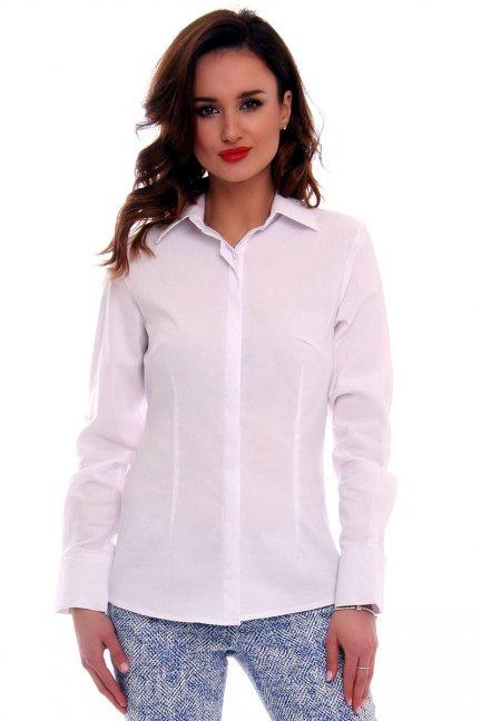 Koszula elegancka gładka CMK572 biała