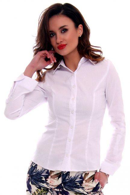 Koszula elegancka damska CMK573 biała
