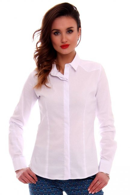 Koszula elegancka gładka CMK577 biała