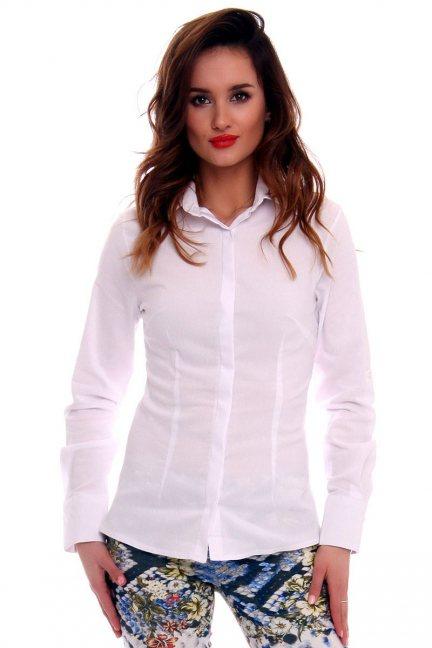 Koszula z kołnierzykiem CMK578 biała