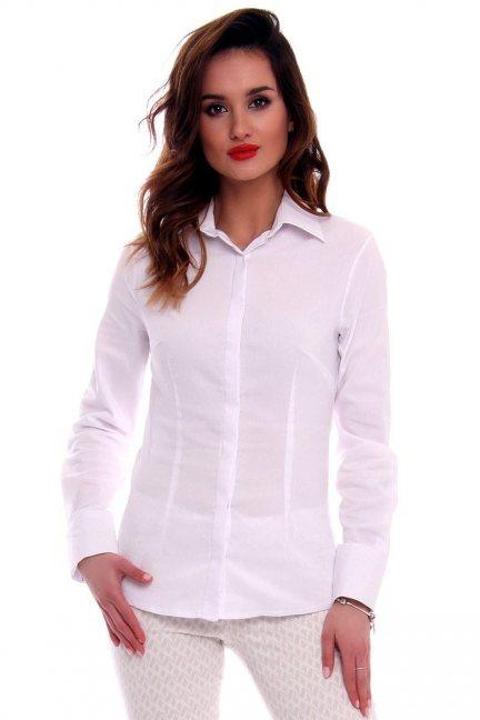 Koszula damska gładka CMK579 biała