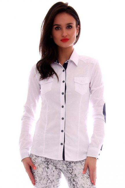 Koszula dopasowana gładka CMK63 biała