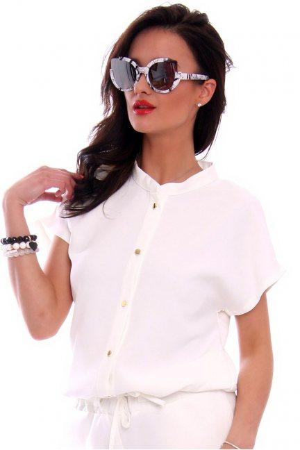 Okulary marmurkowe kocie CMO03 białe