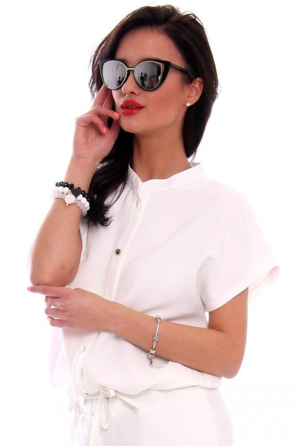 Okulary srebrne CatEye CMO04 czarne