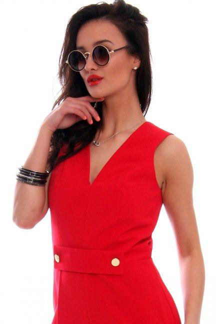 Okulary damskie lenonki CMO07 brązowe