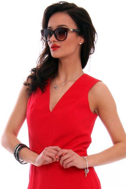 Okulary damskie stylowe CMO32 brązowe
