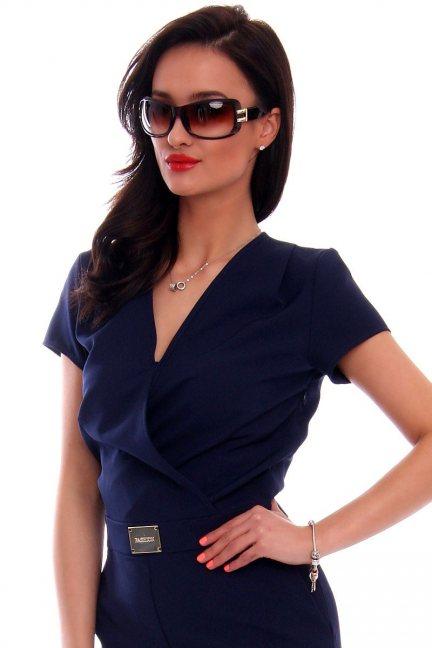 Okulary damskie stylowe CMO34 brązowe