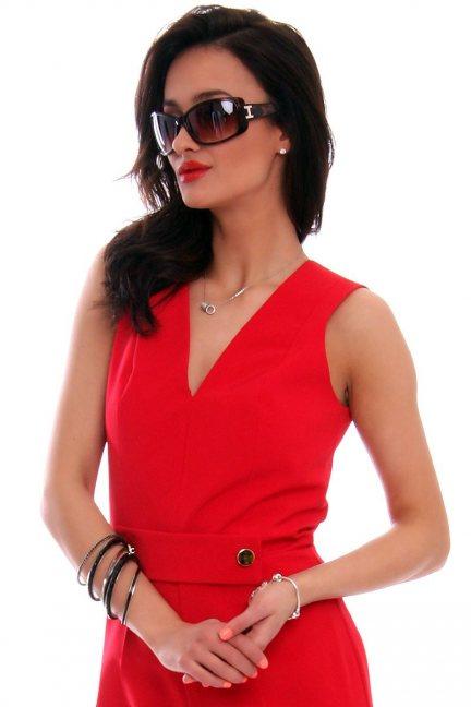 Okulary damskie panterka CMO36 brązowe