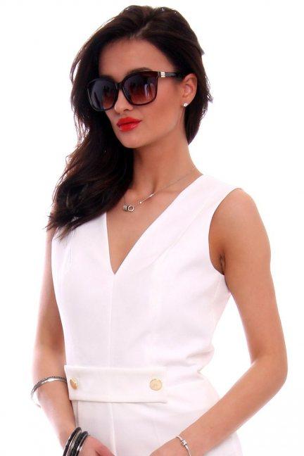 Okulary damskie wayfarer CMO40 brązowe