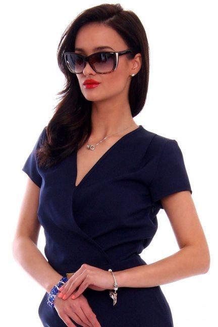Okulary damskie panterka CMO49 brązowe