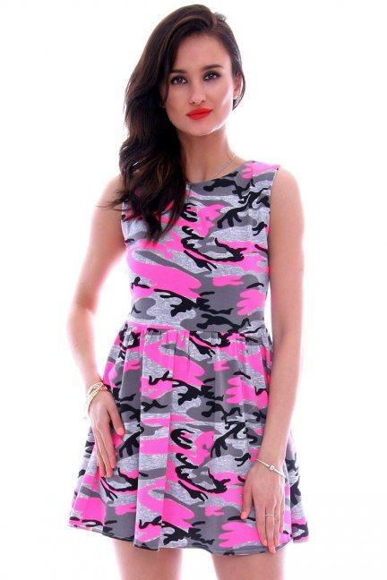 Sukienka bawełniana moro CM300 szara