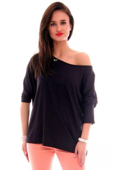Bluzka oversize gładka CM291 czarna