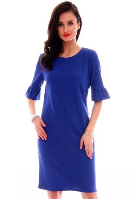 Sukienka ołówkowa damska CMK561 chabrowa