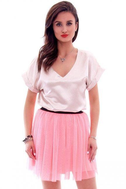 Spódnica tiulowa mini gumka CM305 różowa