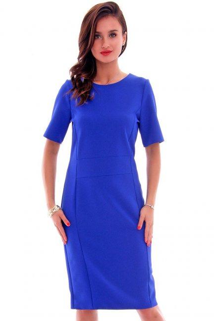Sukienka ołówkowa damska CMK618 chabrowa