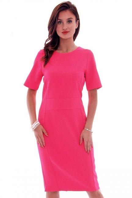 Sukienka ołówkowa damska CMK618 fuksja