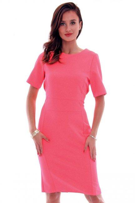 Sukienka ołówkowa damska CMK618 koralowa