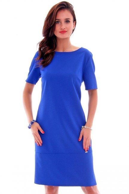 Sukienka ołówkowa midi CMK619 chabrowa
