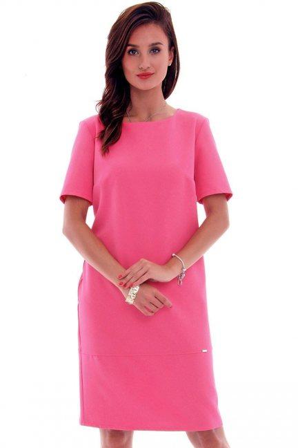 Sukienka ołówkowa midi CMK619 różowa