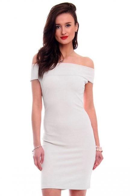 Sukienka dopasowana mini CM571 szara