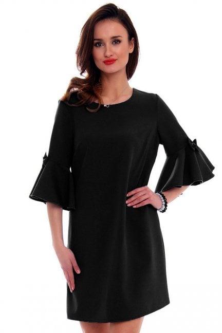 Sukienka z kokardkami CM579 czarna