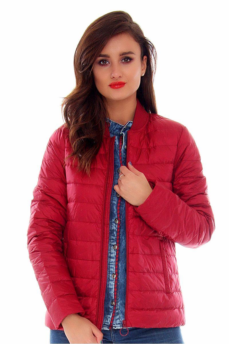 1584cf0776eb8 Kurtka damska bomberka CMK677 czerwona modne kurtki online CosmosModa