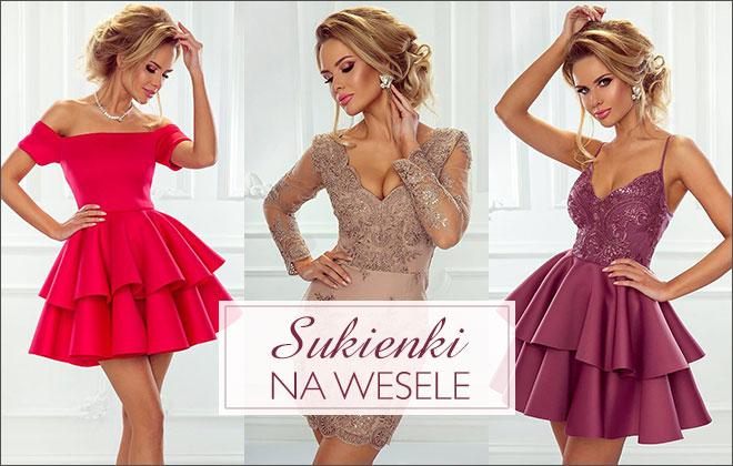 4730c9aab Eleganckie sukienki na wesele - rozkloszowane, mini, midi, maxi,  dopasowane, koronkowe