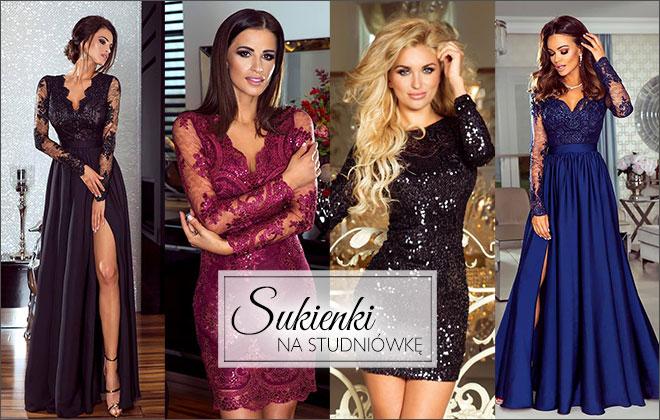 4747d8916 Elegancki i modne sukienki na studniówkę - długie, mini, midi, koronkowe,  rozkloszowane