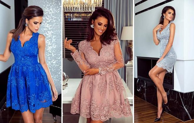 7d68c33d Sukienki koronkowe - modne, rozkloszowane - CosmosModa