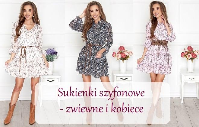 Modne sukienki z szyfonu